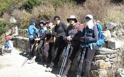 Trekkers trekking into the region of Annapurna