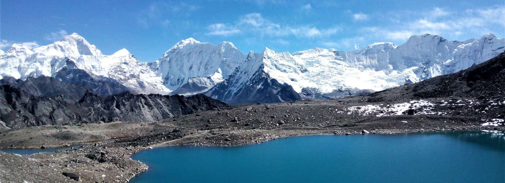 Most beautiful mountain view from the valley of Gokyo