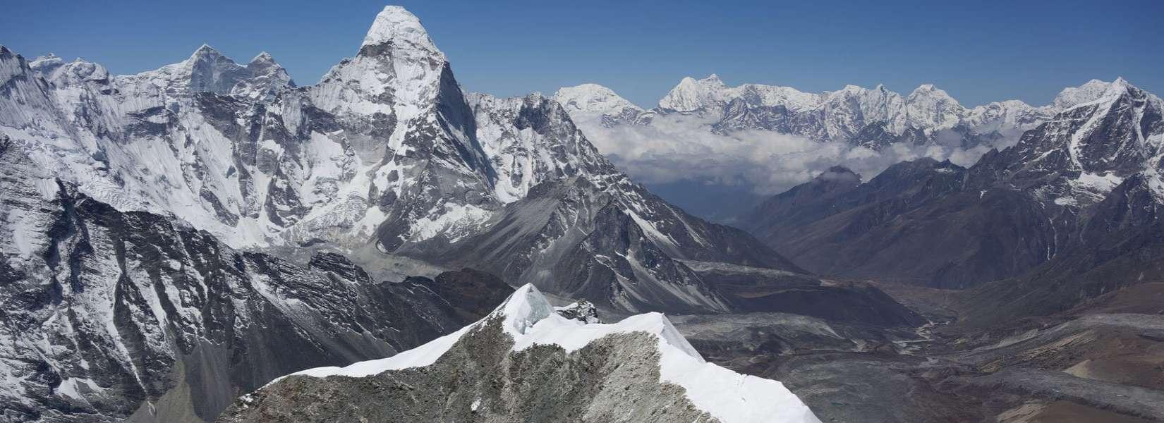 view of neighboring mountain from island peak