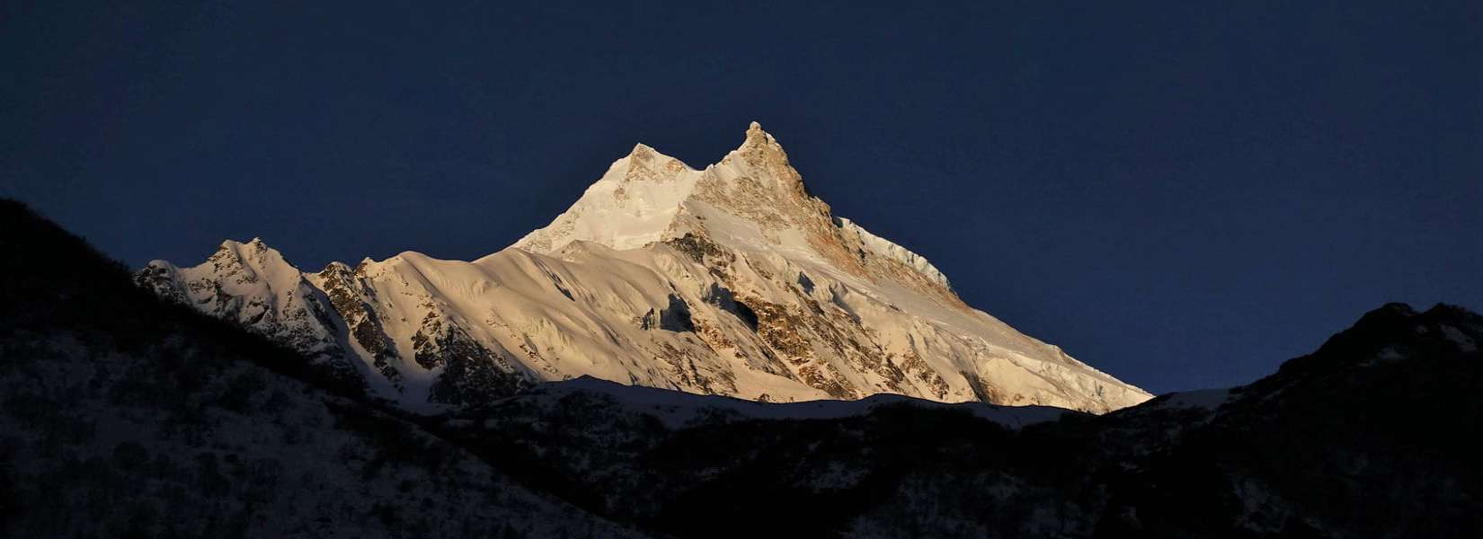 Great view of Mt. Manaslu from Samagaon