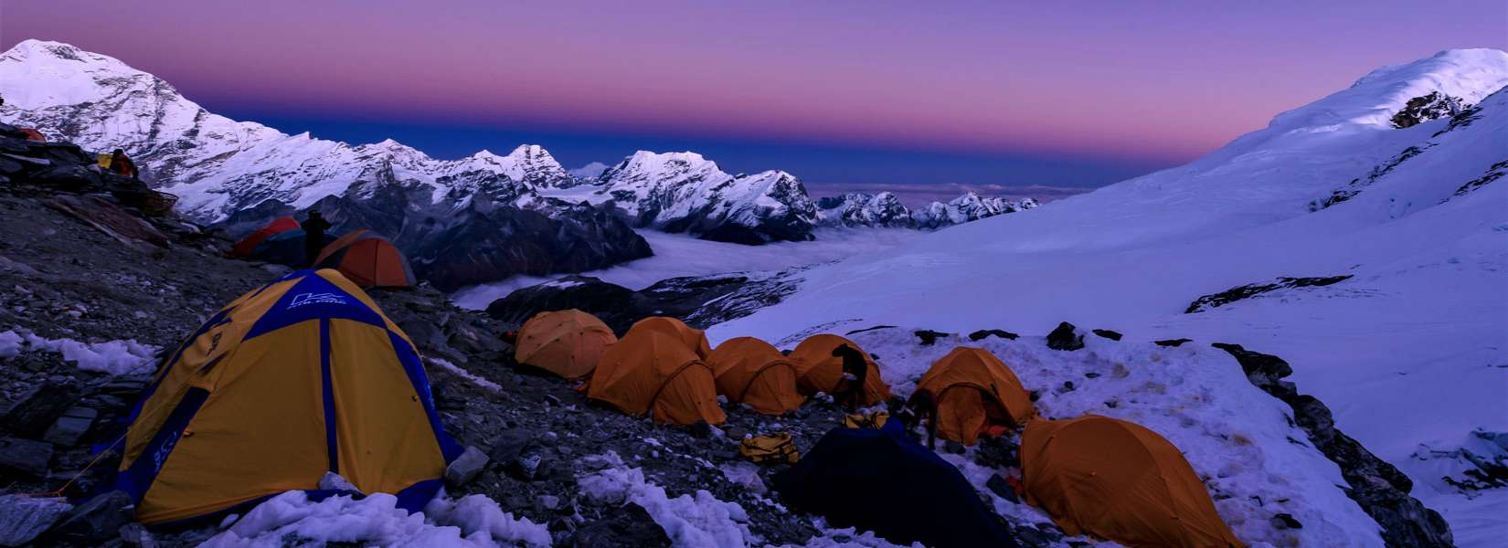 camping at the high camp of Mera Peak in Nepal