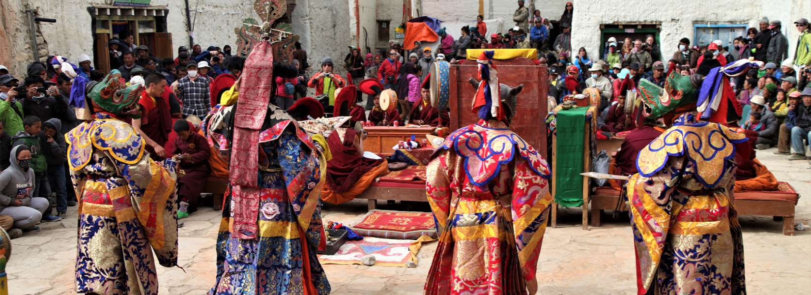 Mask dance performed by monks at Mustang Tiji Festival
