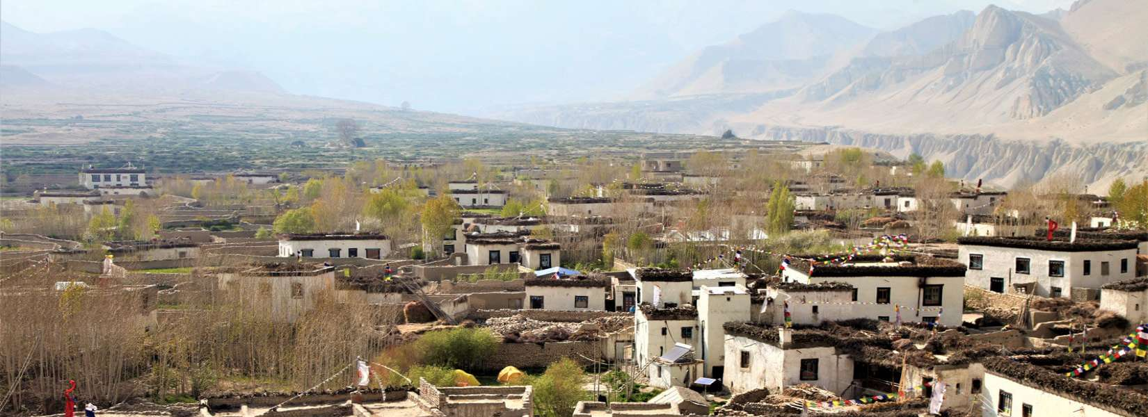 Beautiful Village in the Upper Mustang area Nepal